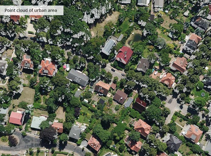 pointcloudtechnology-point cloud of urban area
