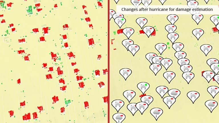 pointcloudtechnology-changes after hurricane for damage estimation