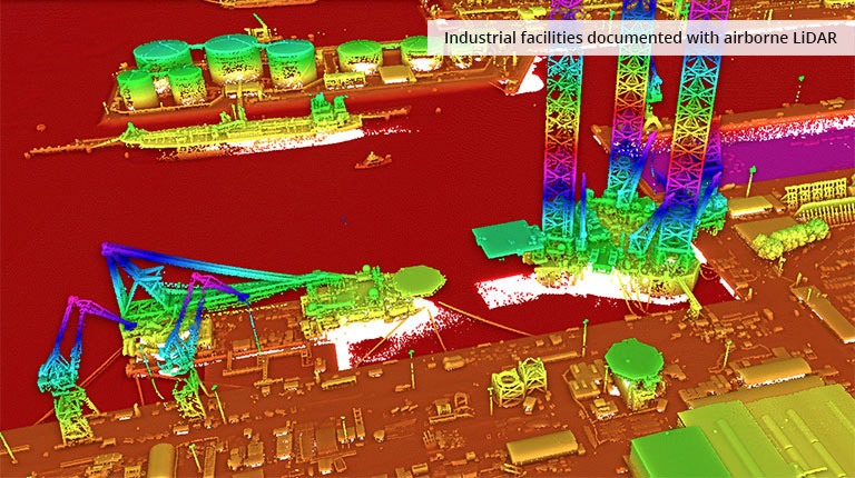 pointcloudtechnology-industrial facilities documented with airborne lidar