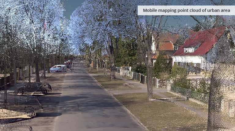 pointcloudtechnology-mobile mapping point cloud of urban area
