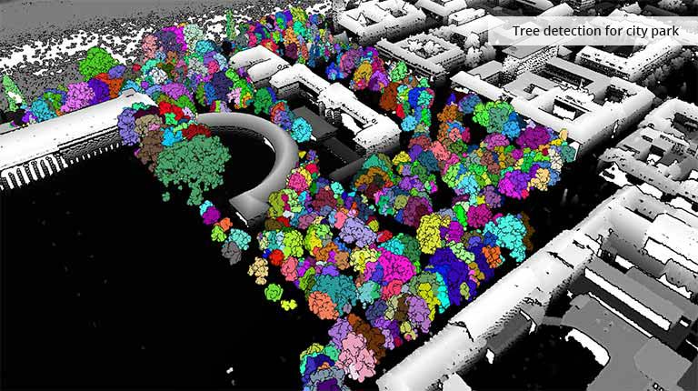 pointcloudtechnology-tree detection for city park
