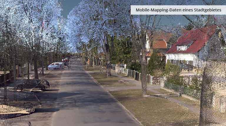 pointcloudtechnology-umobile-mapping-daten eines stadtgebietes