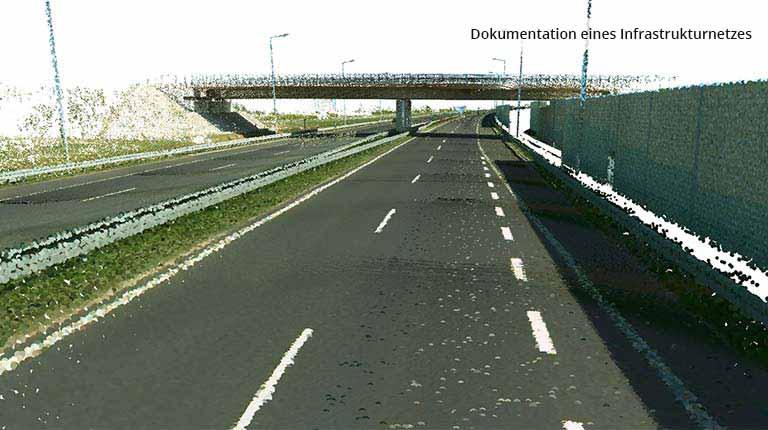 pointcloudtechnology-dokumentation eines infrastrukturnetzes