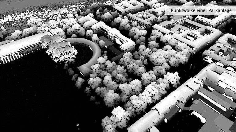 pointcloudtechnology-punktwolke einer parkanlage